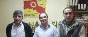 Αριστερά ο Ζουχάτ Κομπανί και δεξιά η «ψυχή» των Κούρδων στην Αθήνα, ο Αβραάμ Καγιά.