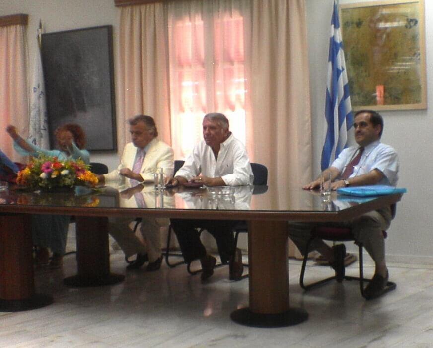 1. Γεώργιος Θεόφ. Καλκάνης - δεξια - σε Συνεδριο στους Δελφούς. (3)