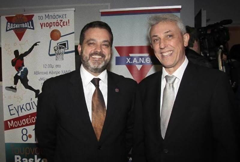 3. Ο Πρόεδρος της ΧΑΝΘ Ιωάννης Σωσσίδης, με τον dr Πάνο Βλάχο Πρόεδρο του Anatolia American college