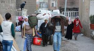 Εσωτερικοί πρόσφυγες μετακινούνται από τη Σιλόπη