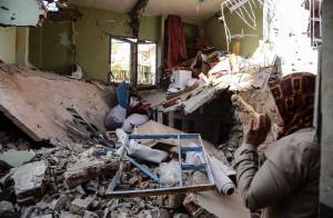 Γκρεμισμένο σπίτι από «σωτήρια αντιτρομοκρατική βόμβα» του τουρκικού στρατού στη συνοικία Σουρ του Ντιγιάρμπακιρ (Αμιδα)