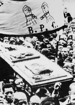 Παρά τις απαγορεύσεις, πάνω από είκοσι χιλιάδες μαύροι μετέτρεψαν την κηδεία του Στιβ Μπίκο σε συλλαλητήριο κατά του καθεστώτος του απαρτχάιντ